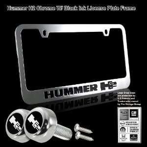 Hummer H2 Black Stamped High Quality Chrome Plating Cast Zinc License
