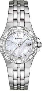 Bulova Womens 24 Diamond Mother Of Pearl Dial 96R126 Watch