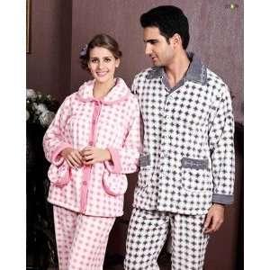 Womens 100% High Quality Polyester Fibers Warm Nightwear With Pockets