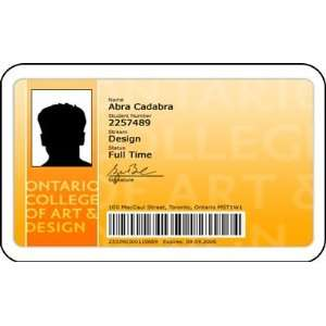 College of Art and Design Student ID Card Fake Card