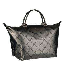 Longchamp LM Grey Nylon Tote Bag