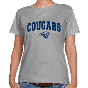 NCAA Houston Cougars Ladies Ash Logo Arch Classic Fit T