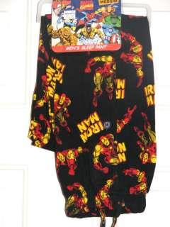 New Mens Cotton Knit IRON MAN pajama sleep pants M L XL