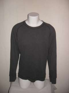 REPORT collection Gray Cotton Waffle L/S Sweater Sz XL