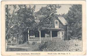 NY   FOURTH LAKE CAMP SUNNYBROOK   Postcard 4th Adirondacks