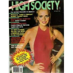 HIGH SOCIETY JANUARY 1982: HIGH SOCIETY MAGAZINE: Books