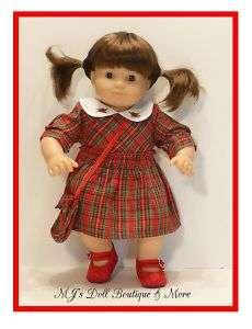 Red Plaid Dress Set fits Bitty Twin Baby