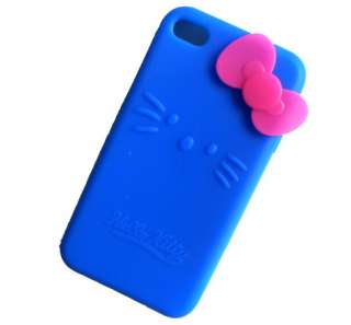Hello Kitty Silicone Cover Skin Case For iphone 4 4G