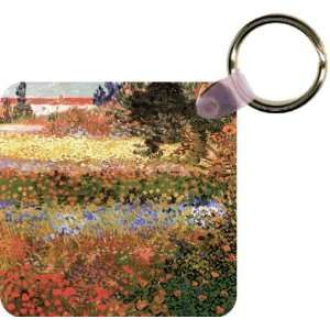 Van Gogh Art Flowering Garden Art Key Chain   Ideal Gift