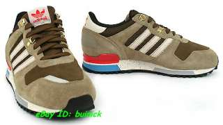 ADIDAS ZX 700 Trainers Beige Brown White Suede Mesh outdoor new UK9