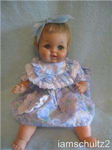 Vintage 1950s IDEAL 14 Thumbelina OTW BABY SNOOZIE Wind Up Newborn
