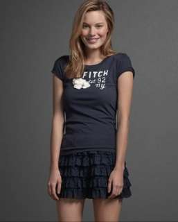 NWT Abercrombie & Fitch Women Charlie Graphic Tee T Shirt Top