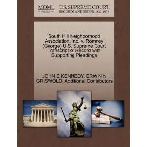 South Hill Neighborhood Association, Inc. v. Romney (George) U.S