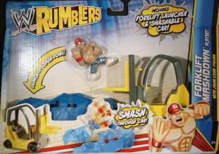CENA W/ FORLIFT SMASHDOWN PLAYSET   WWE RUMBLERS TOY WRESTLING FIGURE