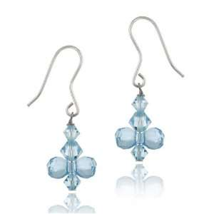 Swarovski Crystallized Elements Drop French Wire Earrings Jewelry