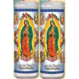 of Guadalupe Prayer Candles 2 Veladoras De Nuestra Senora De Guadalupe