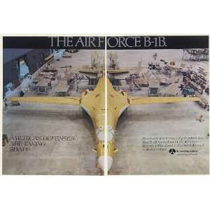 Air Force First B 1B Aircraft 2 Page Print Ad (52538)