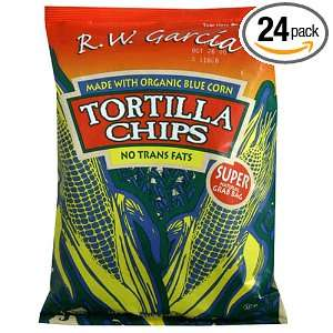 Garcia Organic Blue Corn Tortilla Chips, Salted, 3 Ounces (Pack