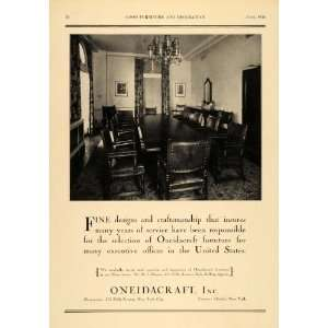 1930 Ad Oneidacraft Furniture W & J Sloane Office Table