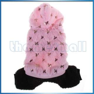 Pet Dog Hoodie Hooded Warm Jumpsuit Coat Jacket Clothes Apparel w