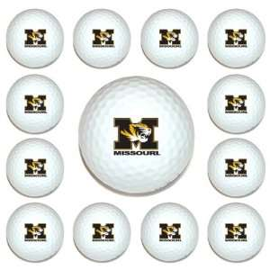 Missouri Tigers Team Logo Golf Ball Dozen Pack   Golf