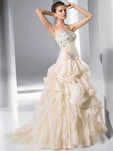 Beautiful Hot Custom Chapel Wedding Dress Bridal Gown