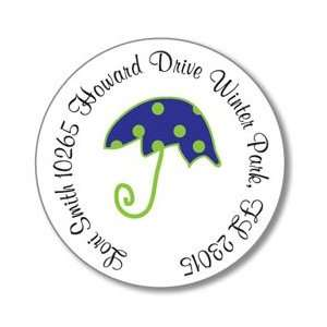 Polka Dot Pear Design   Round Stickers (Umbrella) Office