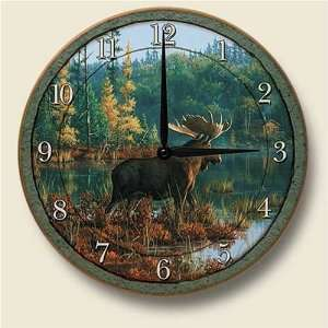 MOOSE lodge cabin Kitchen WALL CLOCK art home decor NEW