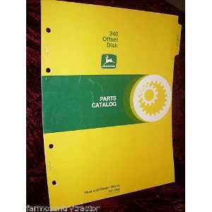 John Deere 340 Offset Disk OEM Parts Manual John Deere Books
