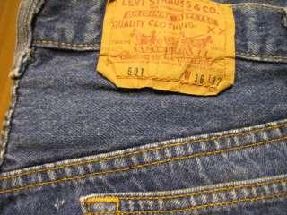 2327 Levis vintage USA 501 jeans 36x32 shrink to fit
