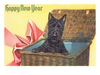 Happy New Year, Scotty Dog Poster at AllPosters