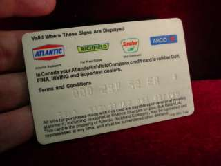 ARCO CREDIT CARD Gas Station COMPANY United States ENGLAND OIL