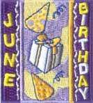 Scout JUNE HAPPY BIRTHDAY Fun Patches GIRL/BOY/GUIDES