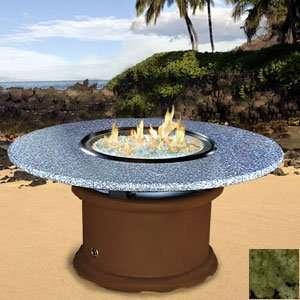 Del Mar   Chocolate Brown   Cooler Table   Sea Green