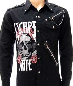 Escape the Fate Heavy Metal Rock Shirt Long Sleeve Sz L