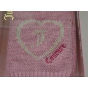 Brand New Juicy Couture Heart Logo Gloves Mittens Pink