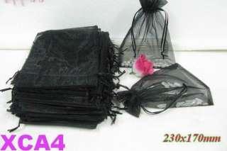 10 COLORS WEDDING FAVOR BAGS ORGANZA LARGE SIZE 23X17CM