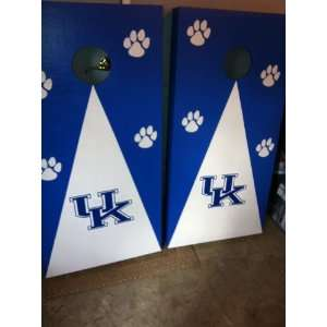 University of Kentucky U.K. with Traditional Decal and Paw Prints, New