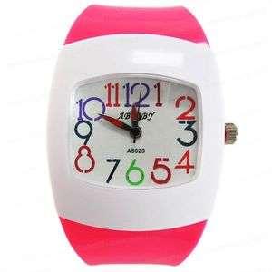 Lovely Rose Girls PVC Band Quartz Wrist Watch DM467S