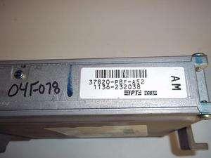 99 00 01 HONDA ODYSSEY ENGINE COMPUTER ECM 37820 P8F A52 37820P8FA52