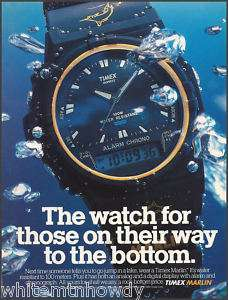 1990 TIMEX Marlin Watch Collectible Print AD~Advert