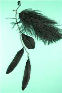 Ostrich Feather Rhinestone Studs ALL COLOR Clip In Hair Extension