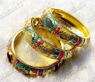 3pcs Vintage exquisite cloisonné enamel cat eye bracelet bangle cuff
