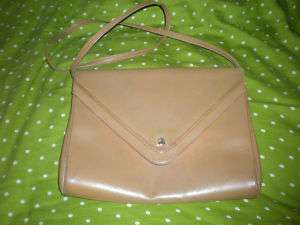 Vintage Tan Leather Mark Cross Sholder Bag