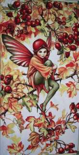 FLOWER FAIRIES AUTUMN HAWTHORN FAIRY PANEL FABRIC
