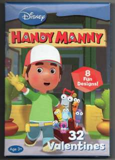 Disney HANDY MANNY Valentines Day Class Cards 32 Valentines