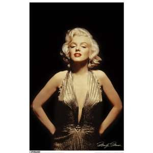 Marilyn Monroe/Gold Poster