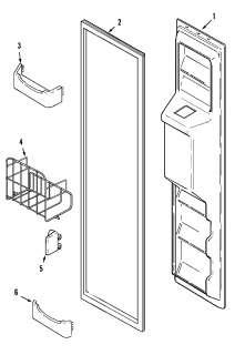 MAYTAG Refrigerator Supplemental information Parts  Model GC2227GEH1