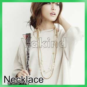Celebrity White Freshwater Pearl Rose Necklace