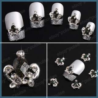 3D Alloy Rhinestones Crown Nail Art Glitters DIY Decoration